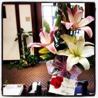 Pretty flowers from a pretty sweet guy. :)