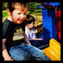 Cricket loves the park. :)