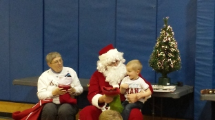 Thumper was much more excited about seeing Santa today than he was three weeks ago.